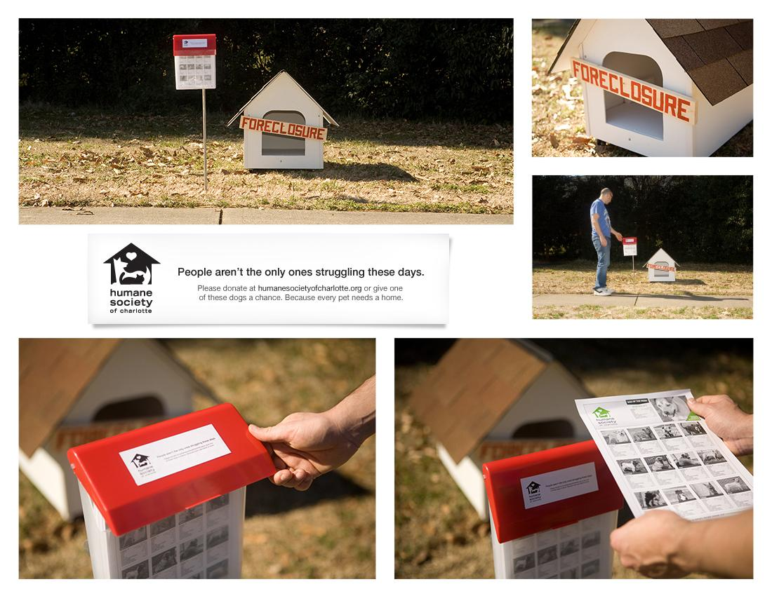 Humane Society Charlotte Ambient Ad -  Foreclosure