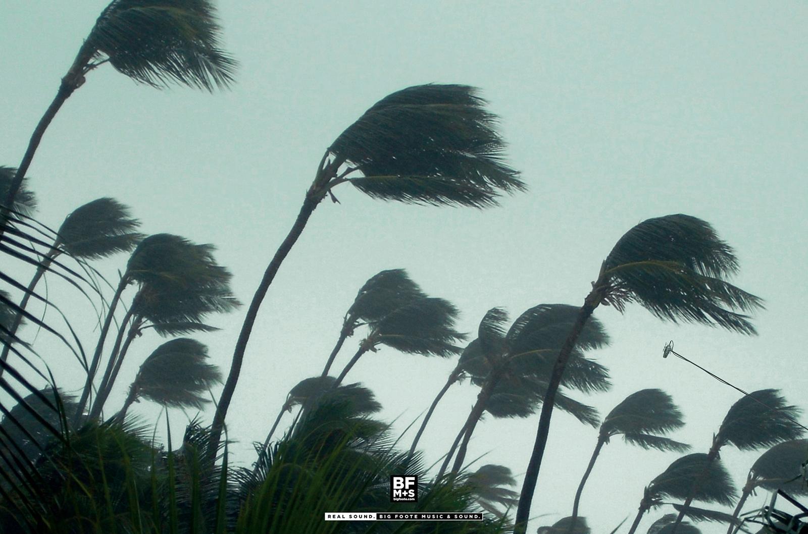 Big Foote Music & Sound Print Ad -  Hurricane