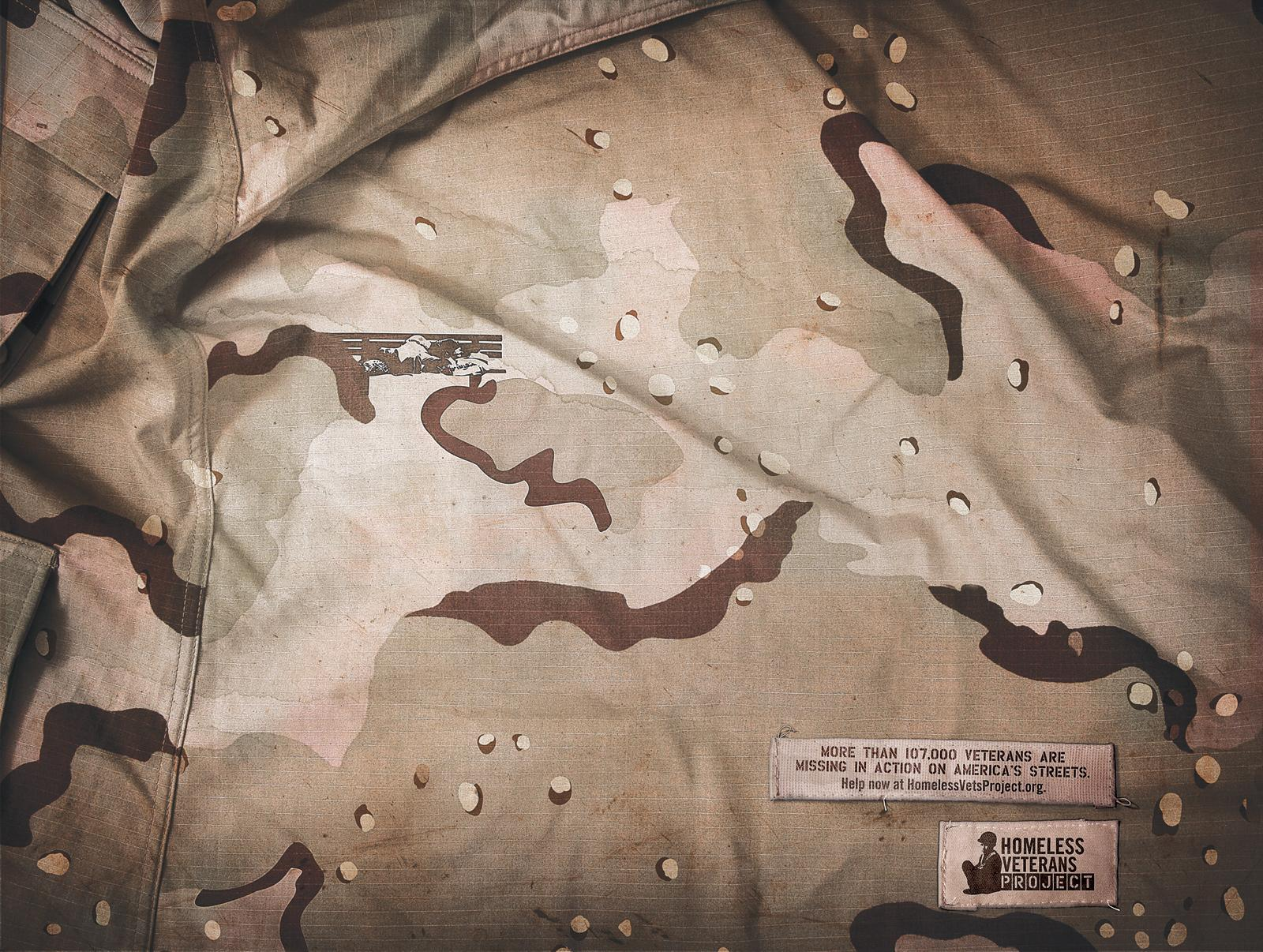 Homeless Veterans Project Print Ad -  Camo, Desert