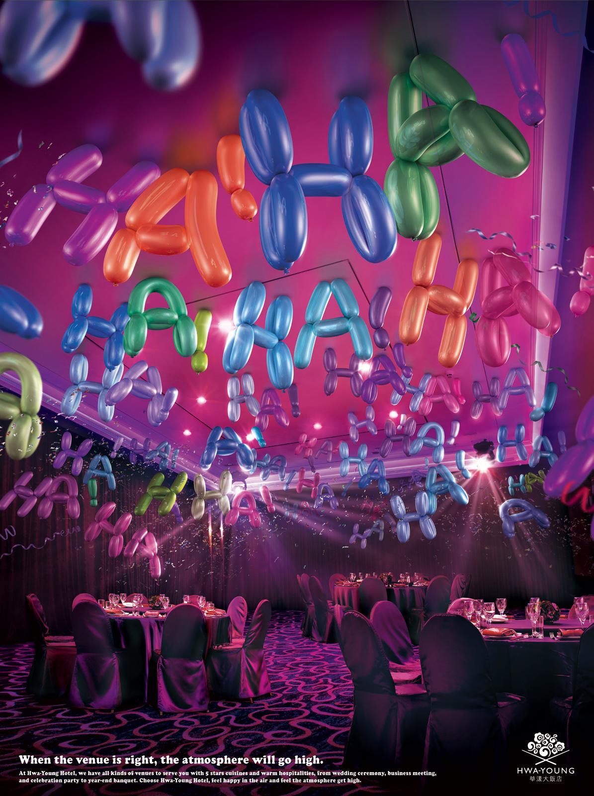Hwa-Young Print Ad -  Balloons