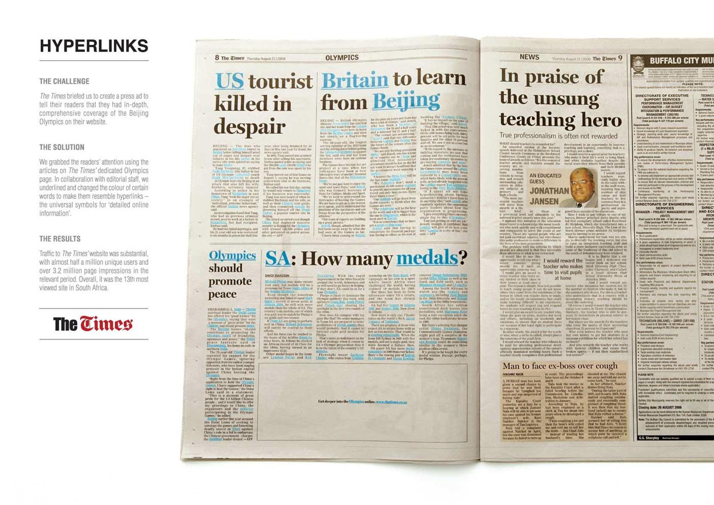 The Times Print Ad -  Hyperlinks