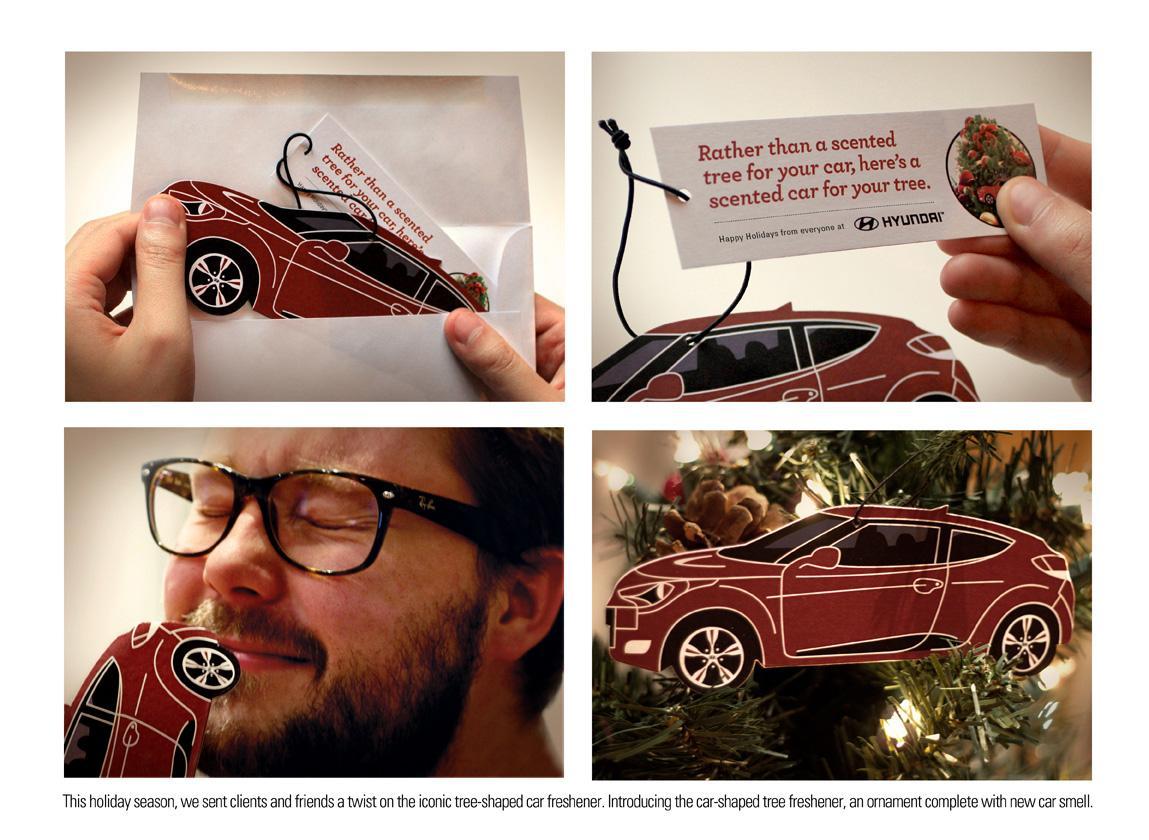 Hyundai Direct Ad -  Scented holiday card