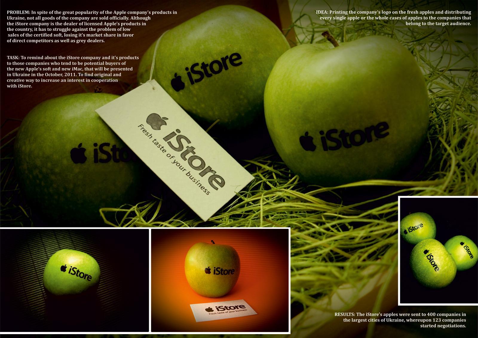 iStore Direct Ad -  Fresh apples
