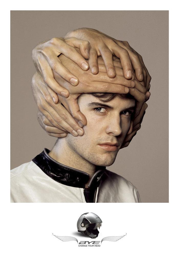 Bye Helmets Print Ad -  Guy