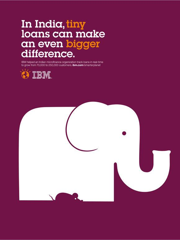 IBM Print Ad -  Smarter Planet, Elephant mouse