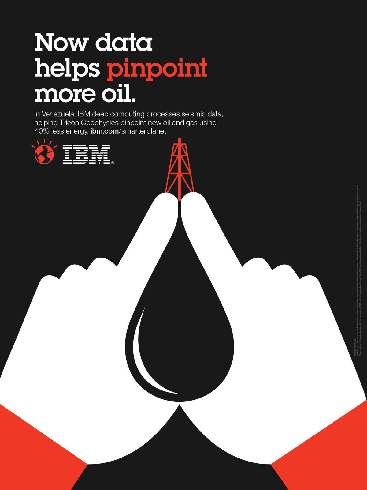 IBM Print Ad -  Outcomes oil