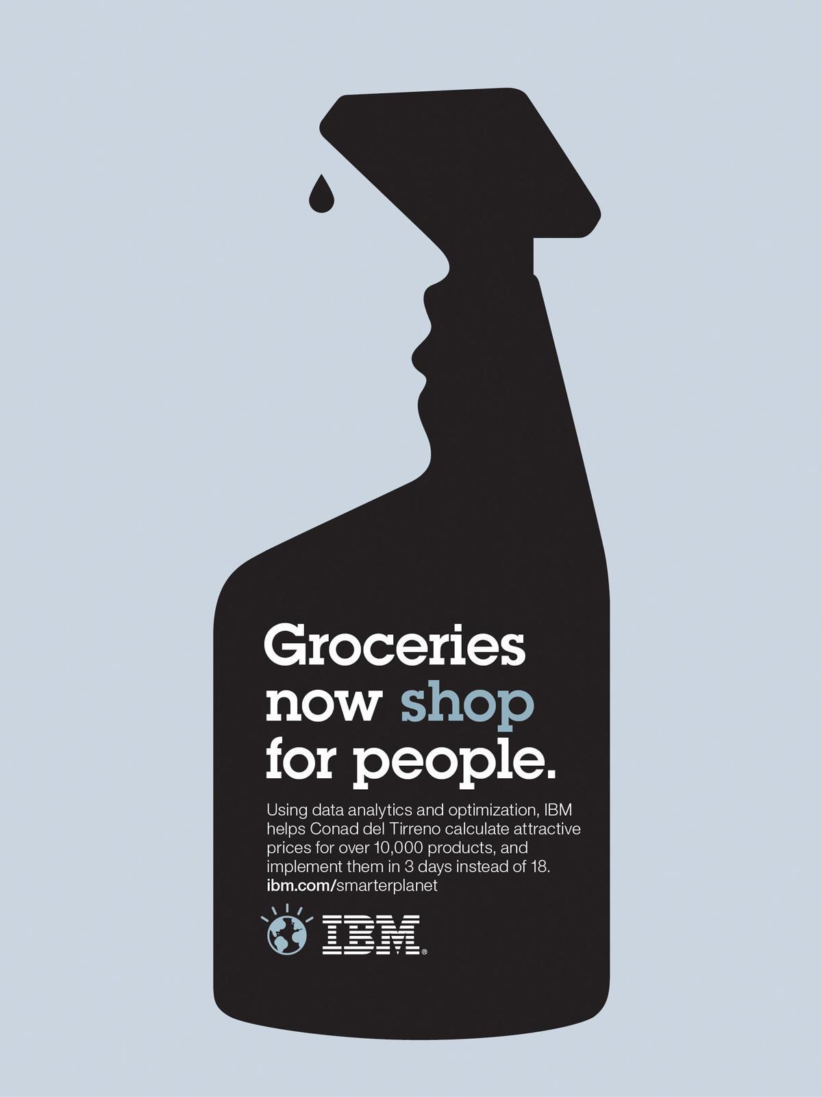 IBM Print Ad -  Outcomes retail