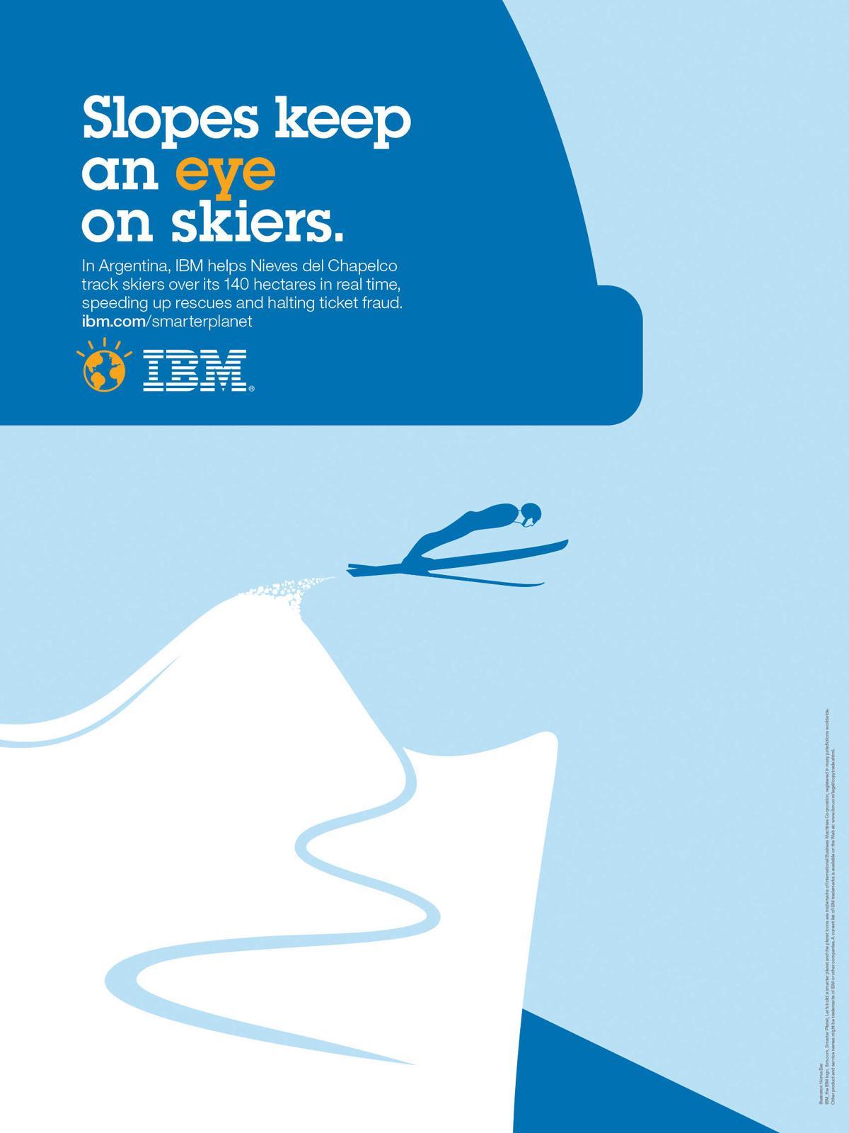 IBM Print Ad -  Ski