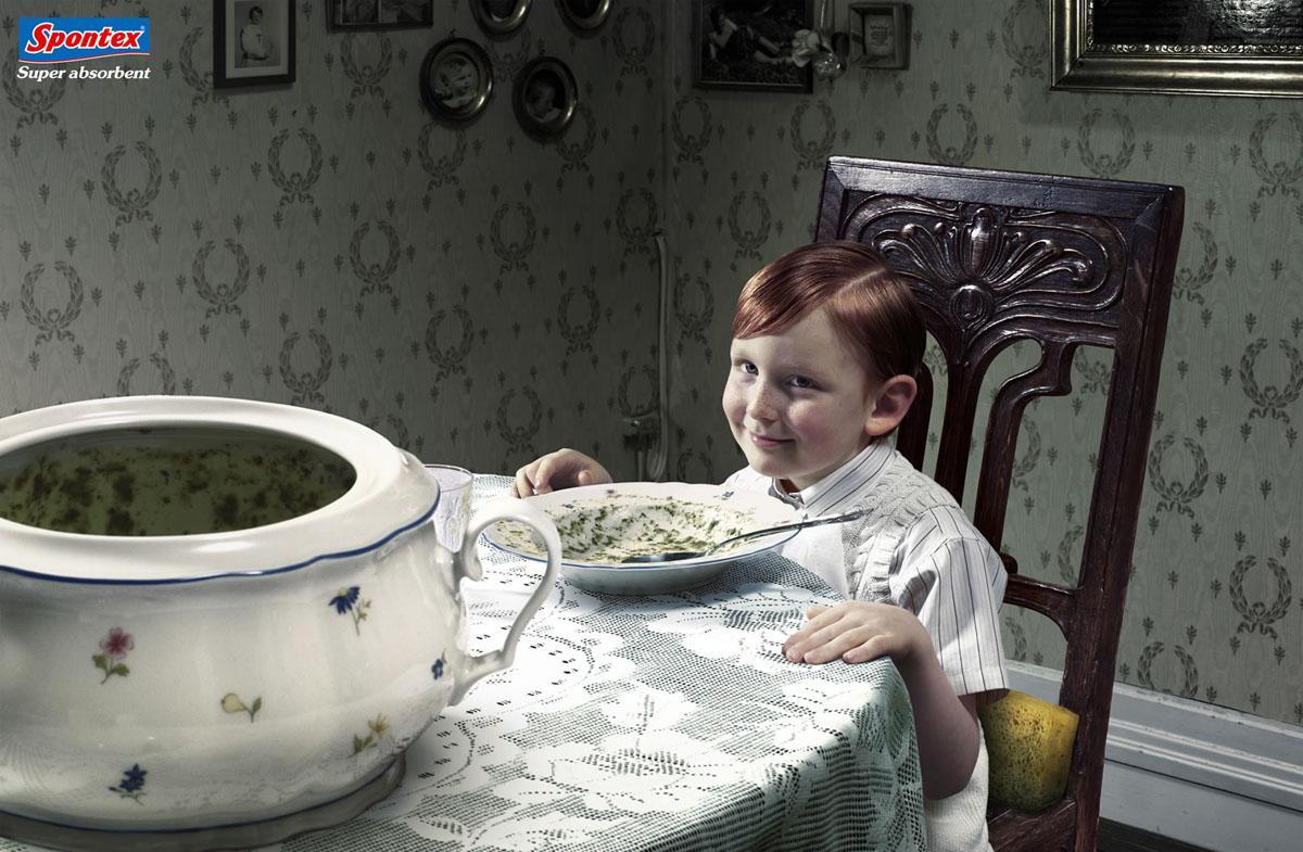 Spontex Print Ad -  Pea soup