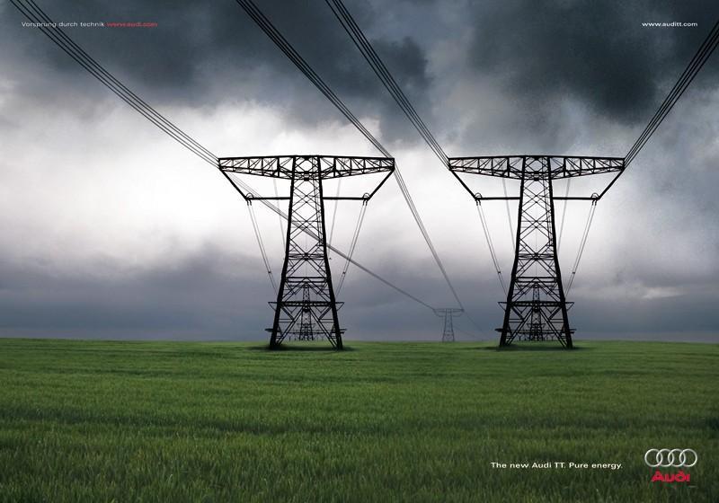 Audi Print Ad -  Power line