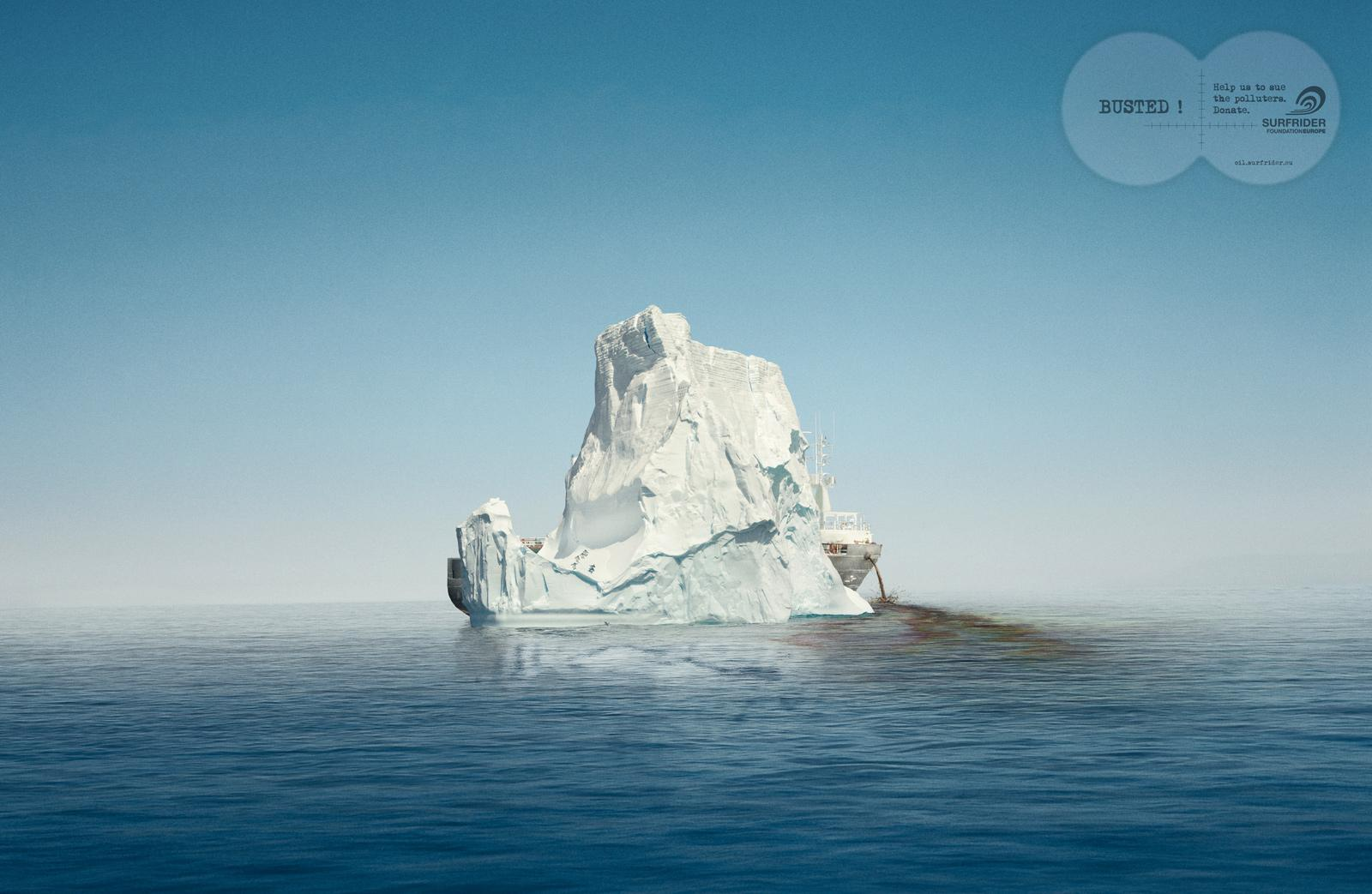 Surfrider Foundation Print Ad -  Iceberg