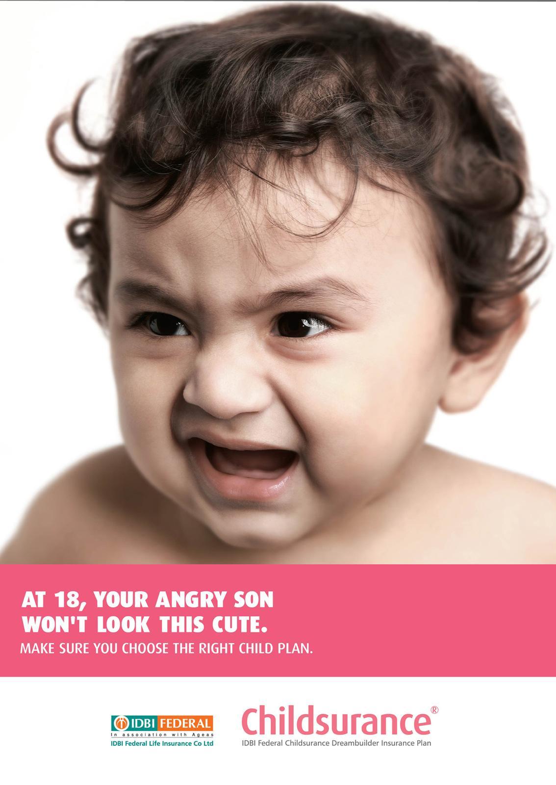 IDBI Federal Print Ad -  Angry baby, 1