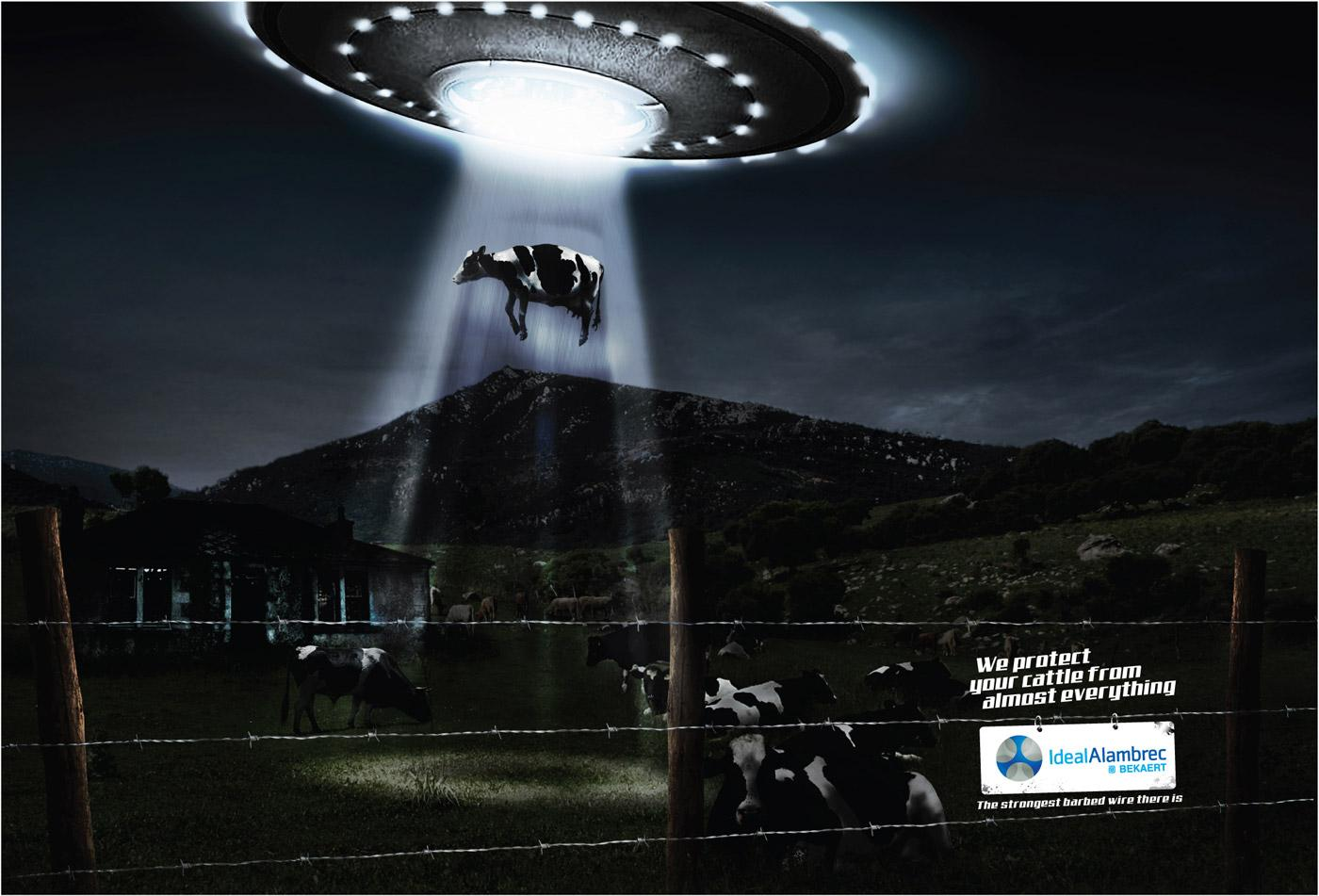 Ideal Alambrec Print Ad -  UFO