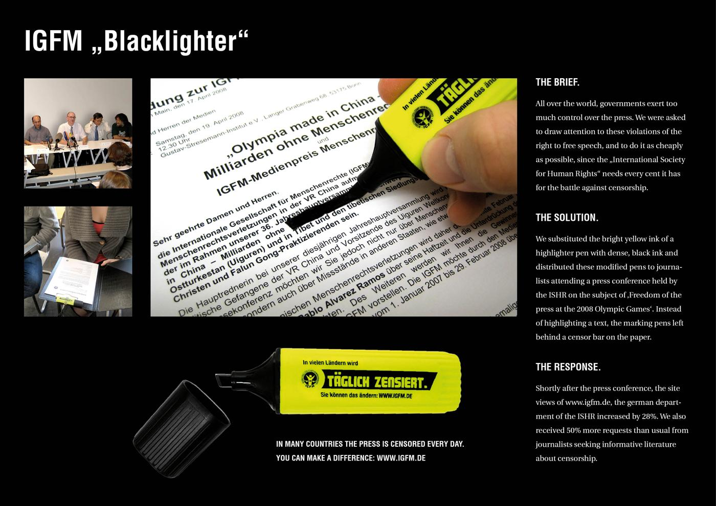 International Society for Human Rights Direct Ad -  Blacklighter