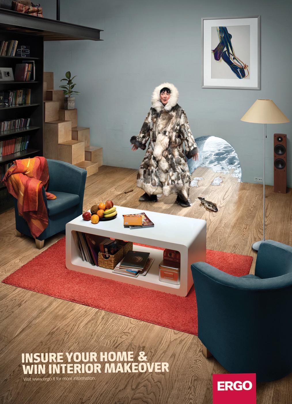 Ergo Print Ad -  Interior makeover, Igloo
