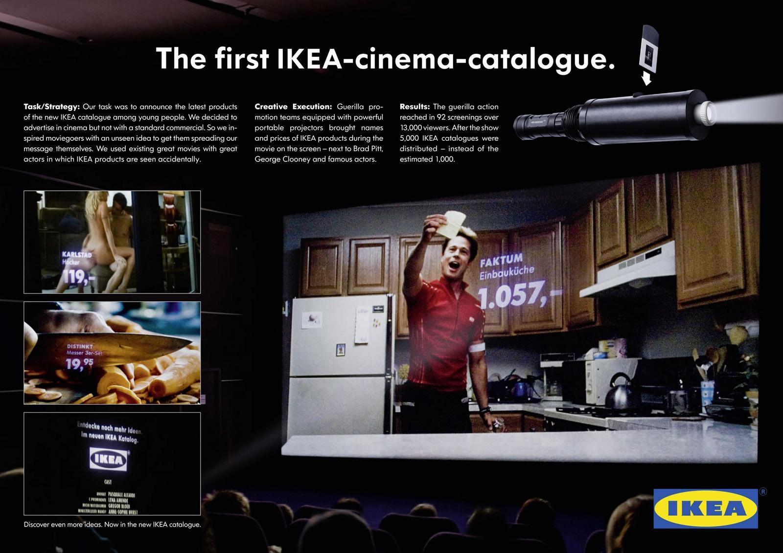 IKEA Ambient Ad -  Cinema catalogue