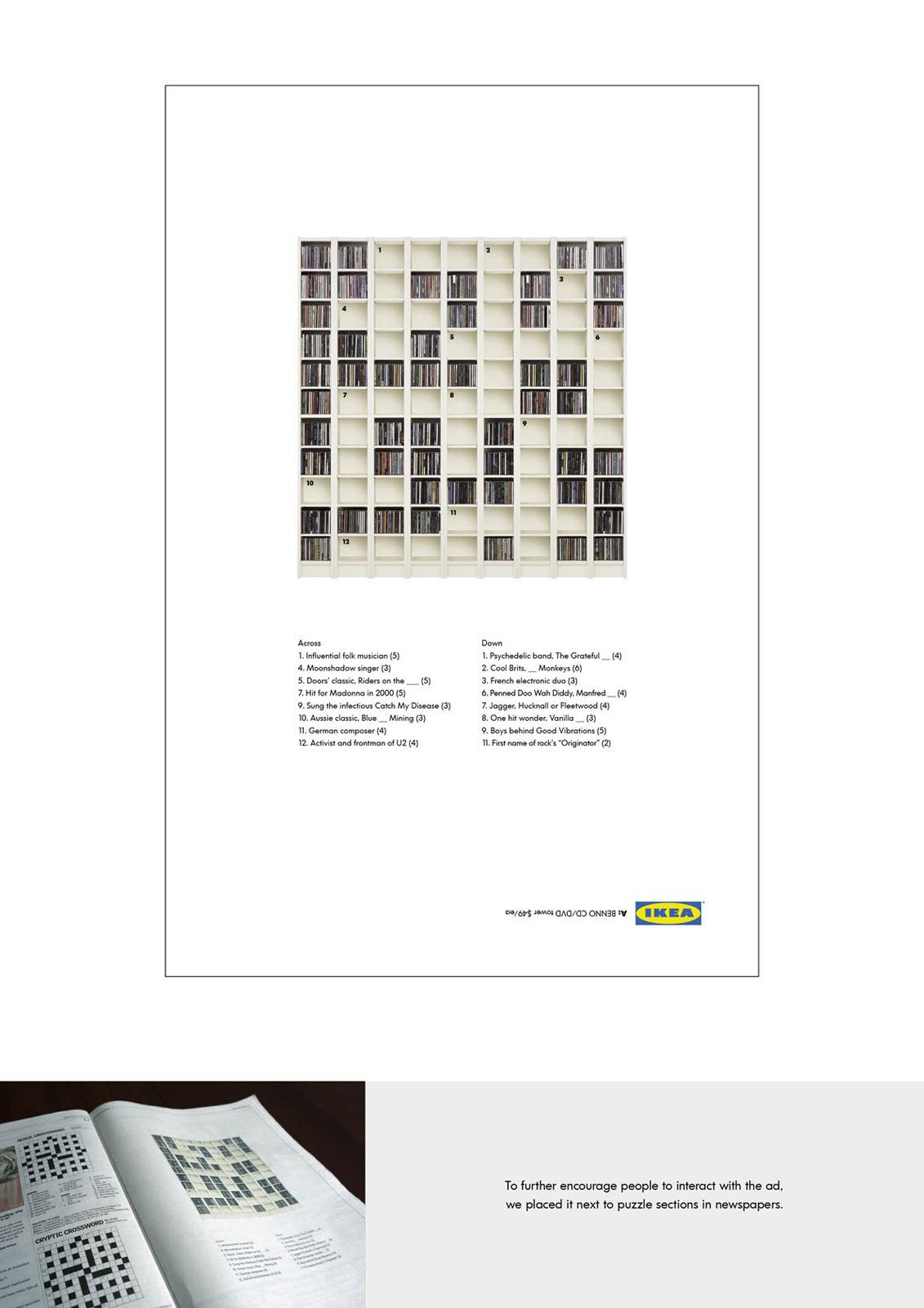 IKEA Print Ad -  Crossword puzzle