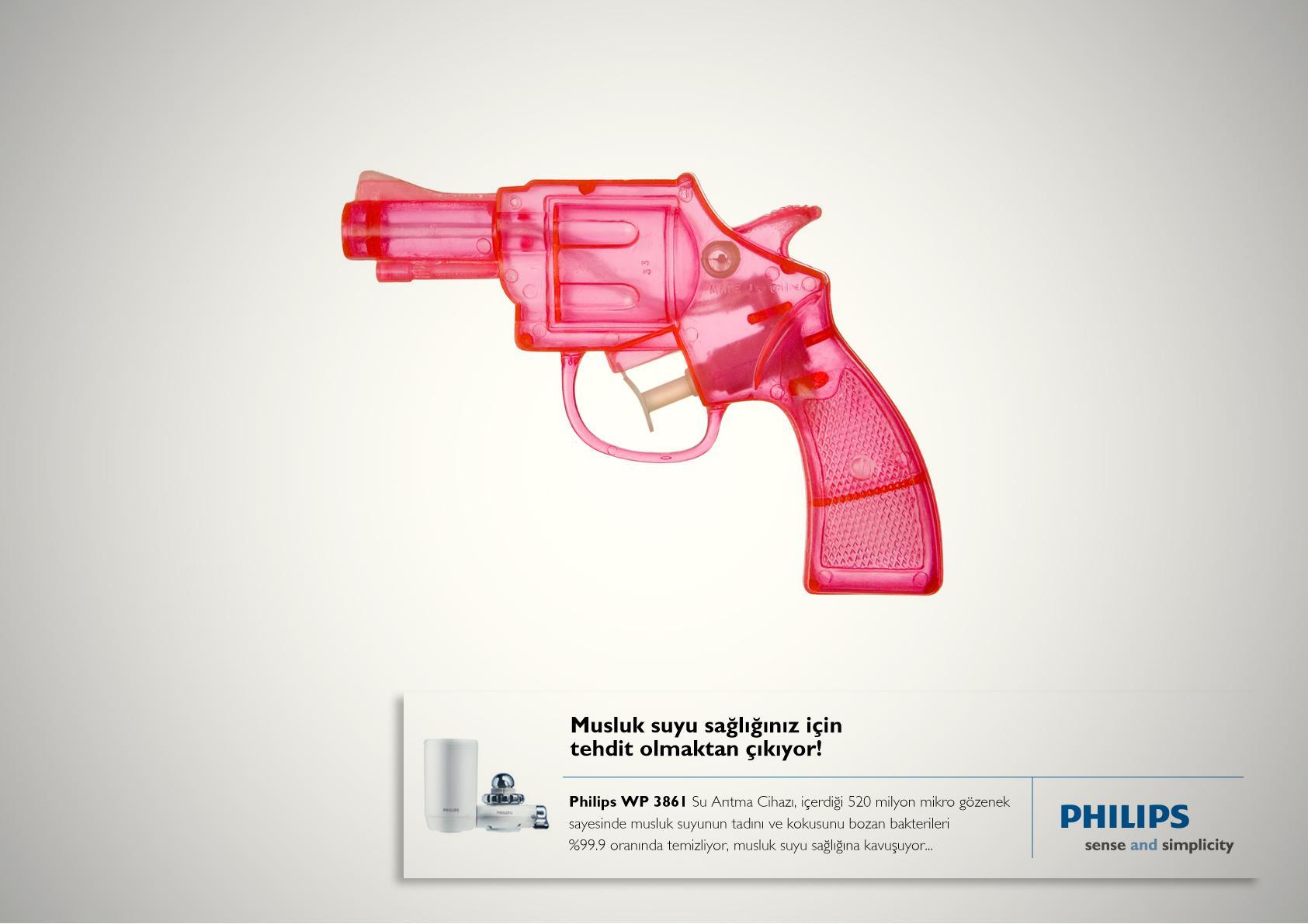 Philips Print Ad -  Water gun
