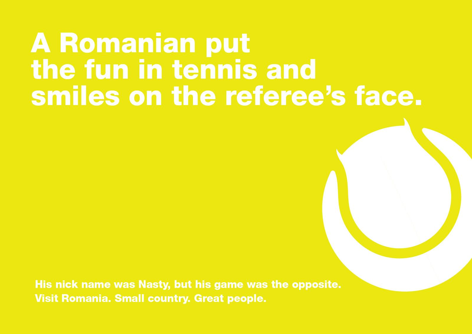 Romania Print Ad -  Ilie Nastase