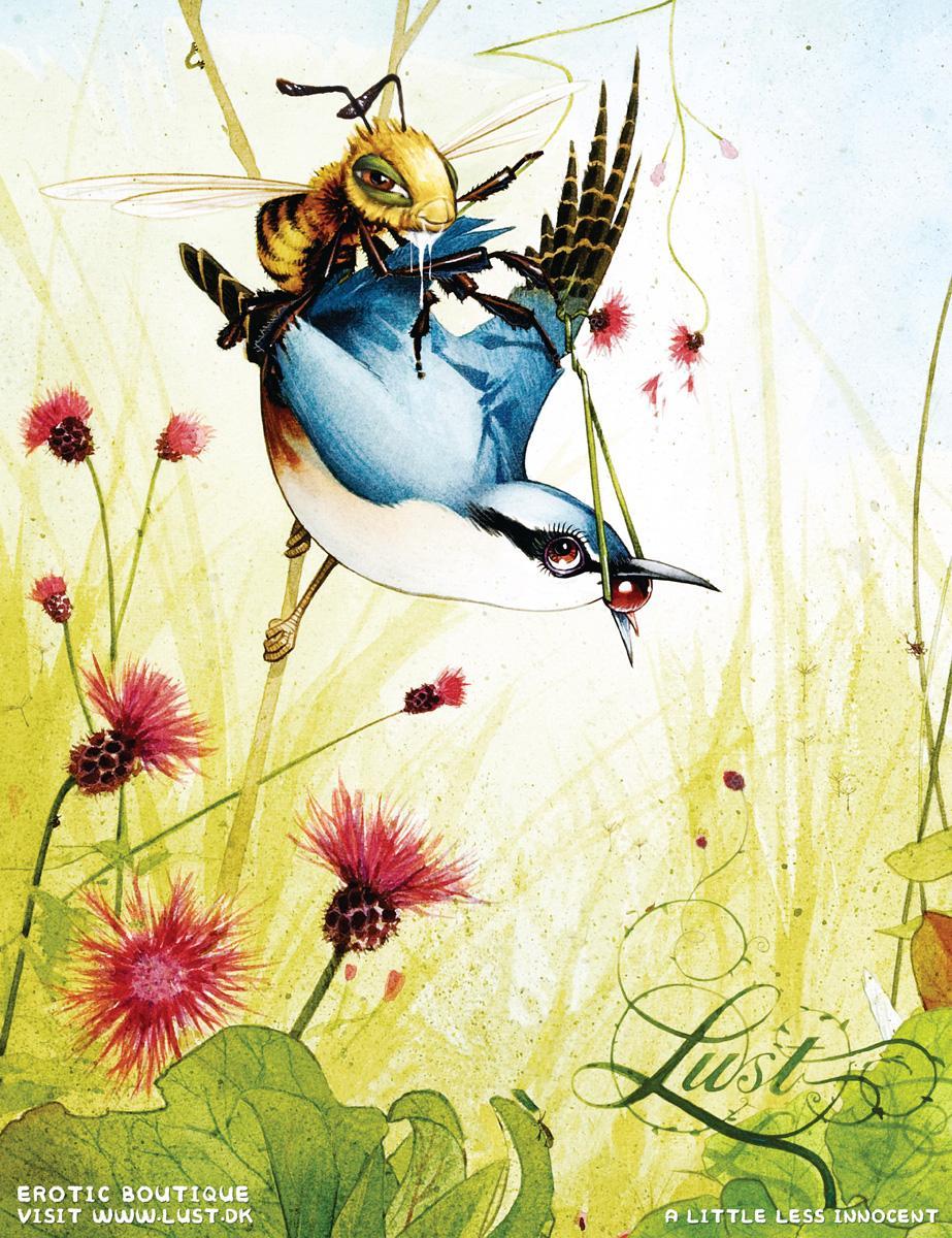 Lust Erotic Boutique Print Ad -  Birds & Bees, 3
