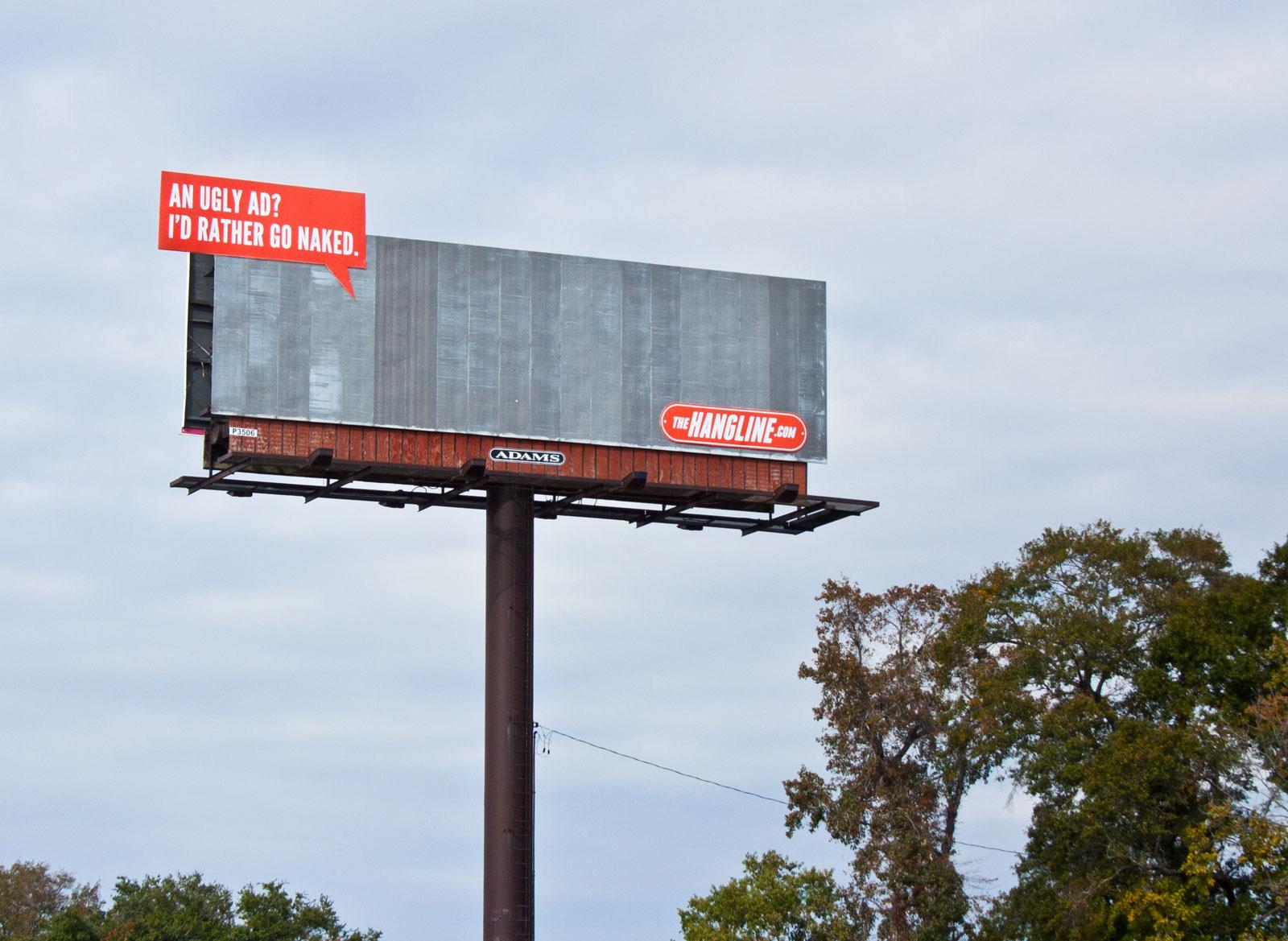 The Hangline Outdoor Ad -  I'd Rather Go Naked