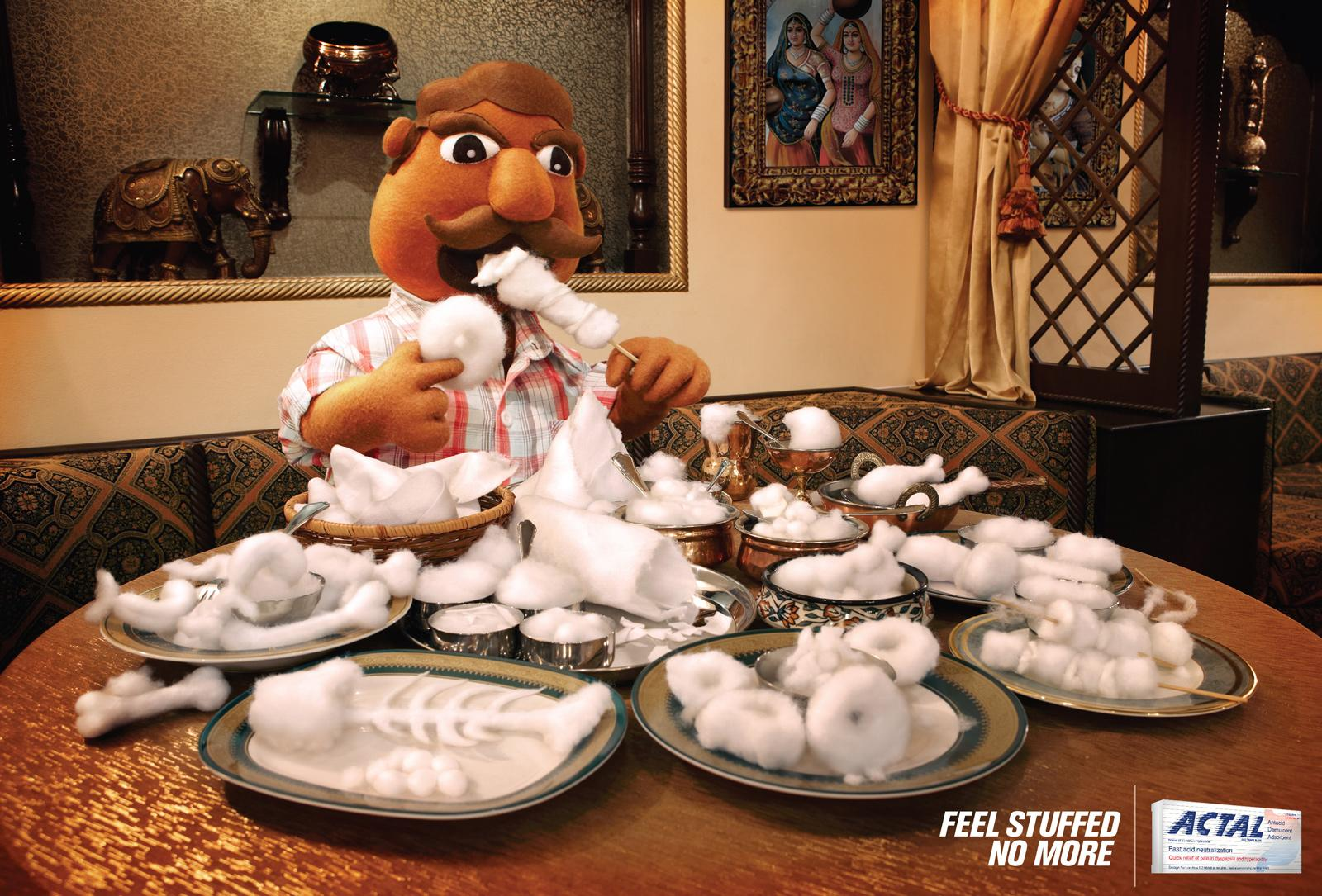 Actal Print Ad -  Stuffed, Indian Food