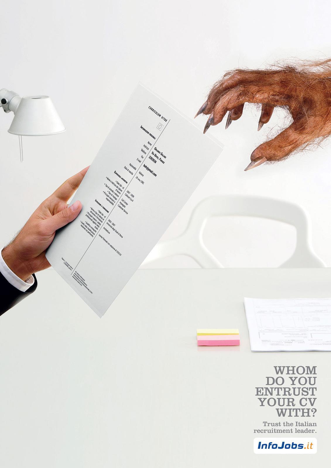 InfoJobs.it Print Ad -  Werewolf