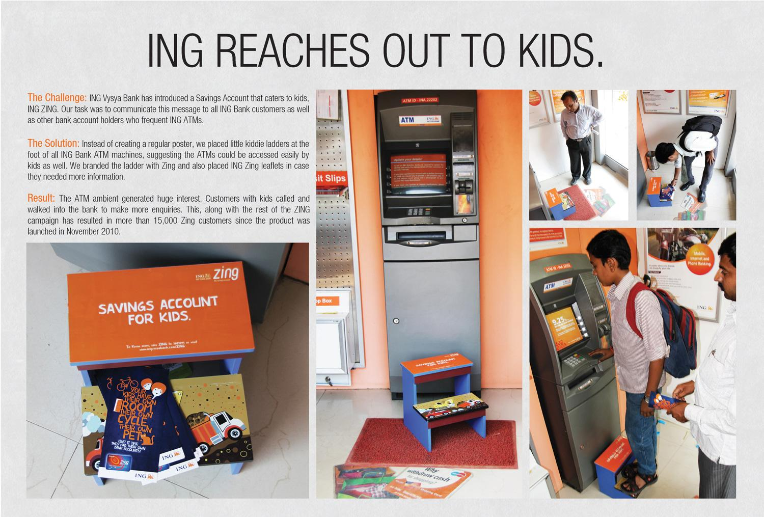 ING Ambient Ad -  ING Zing Savings Account for kids