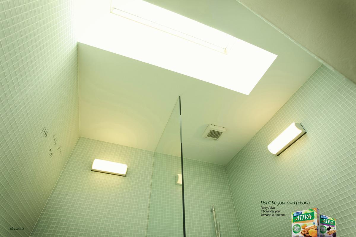 Nutri Ativa Print Ad -  Bathroom, 1