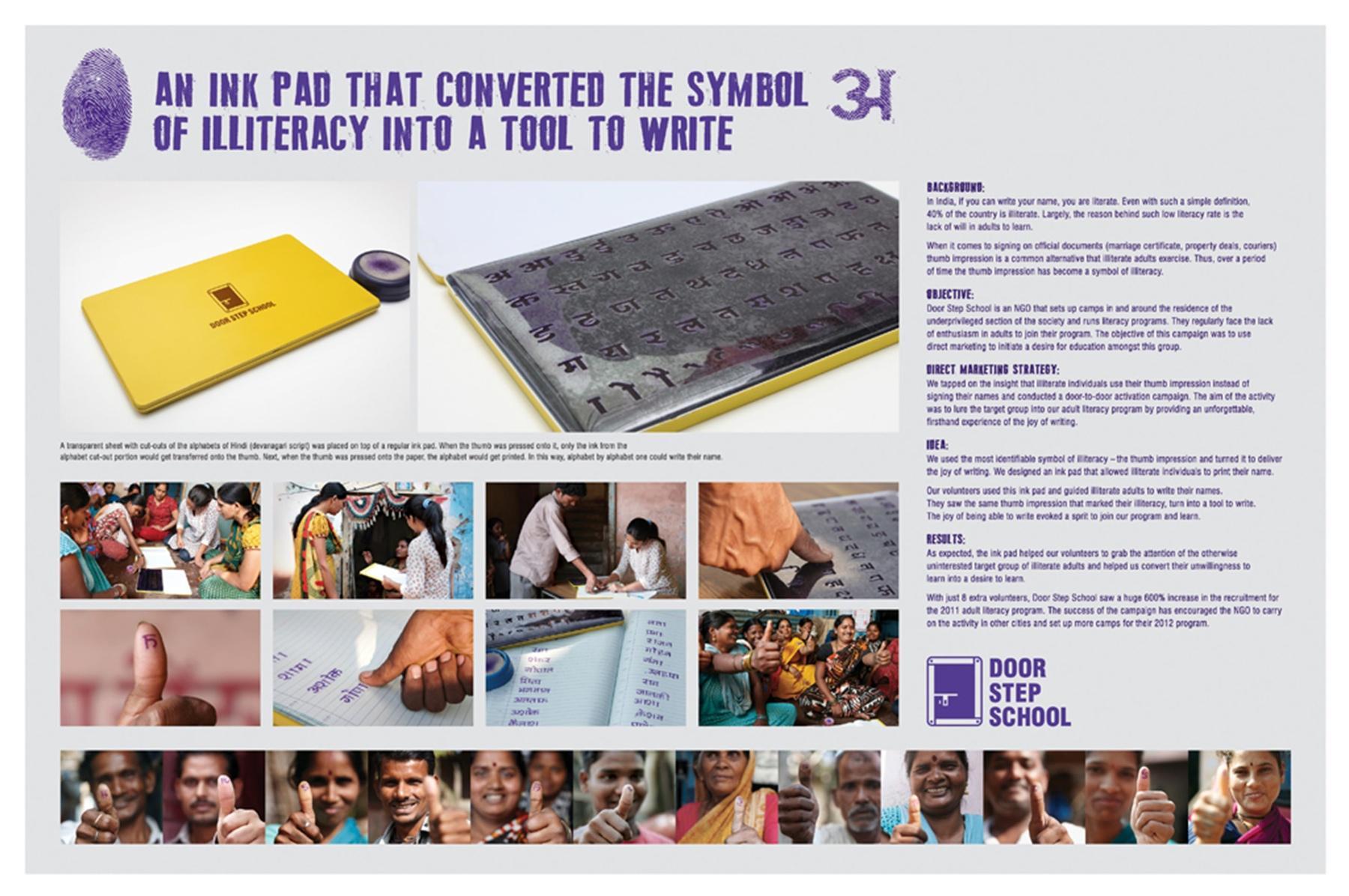 Door Step School Direct Ad -  Ink Pad