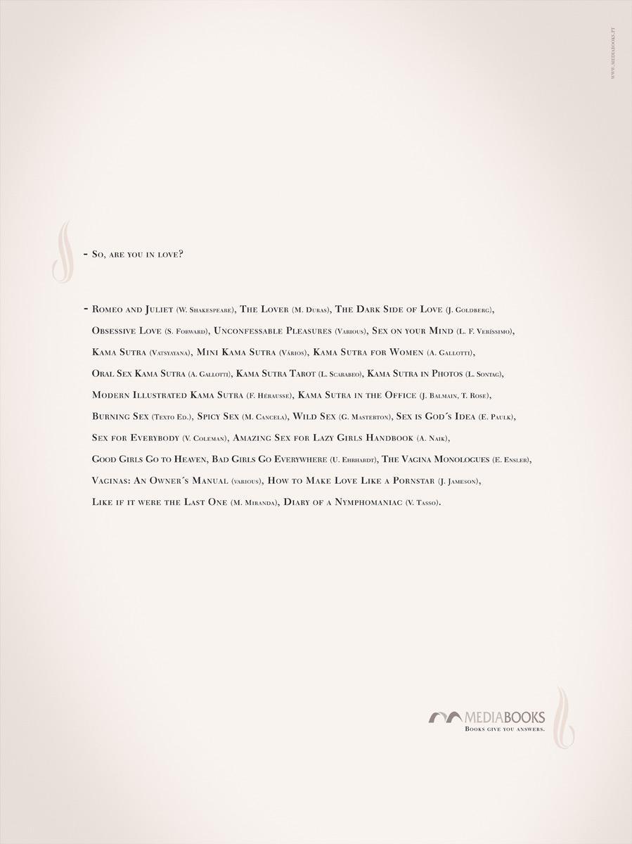 Media Books Print Ad -  In love