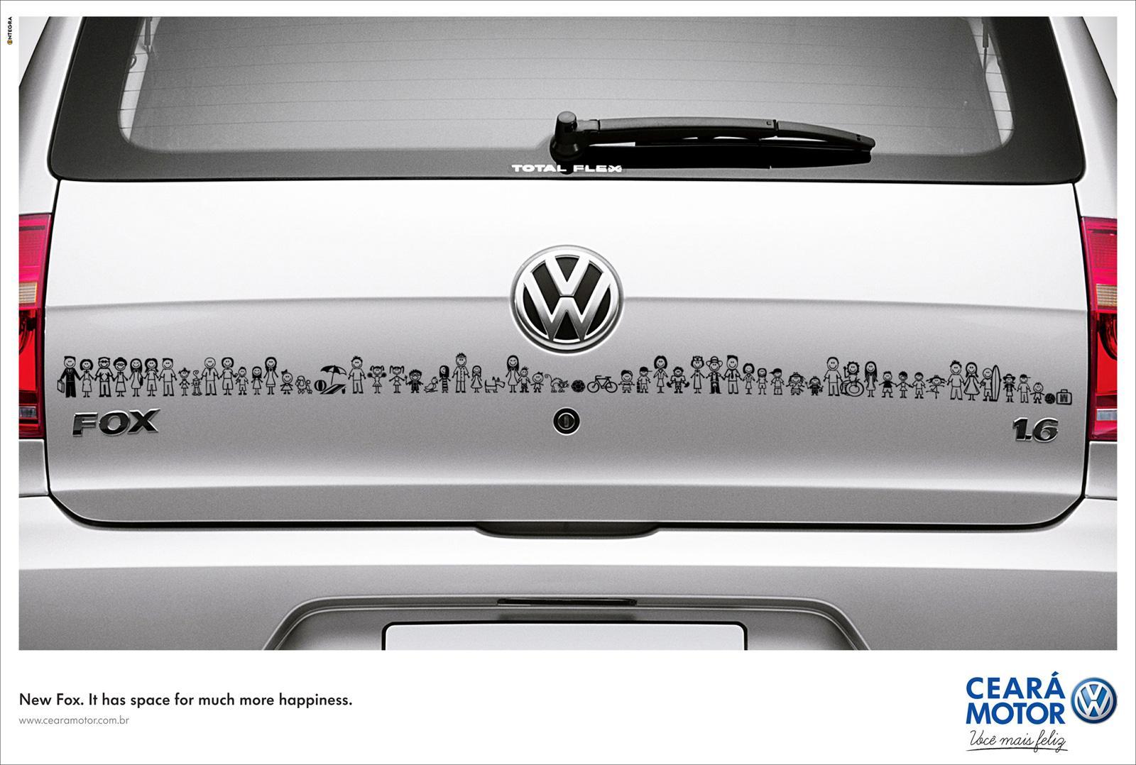 Volkswagen Print Ad -  Happy family