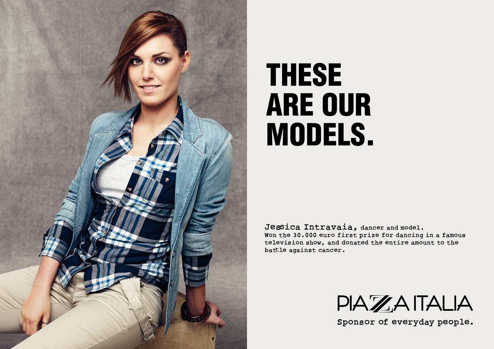 Piazza Italia Print Ad -  Our models, Intravaia