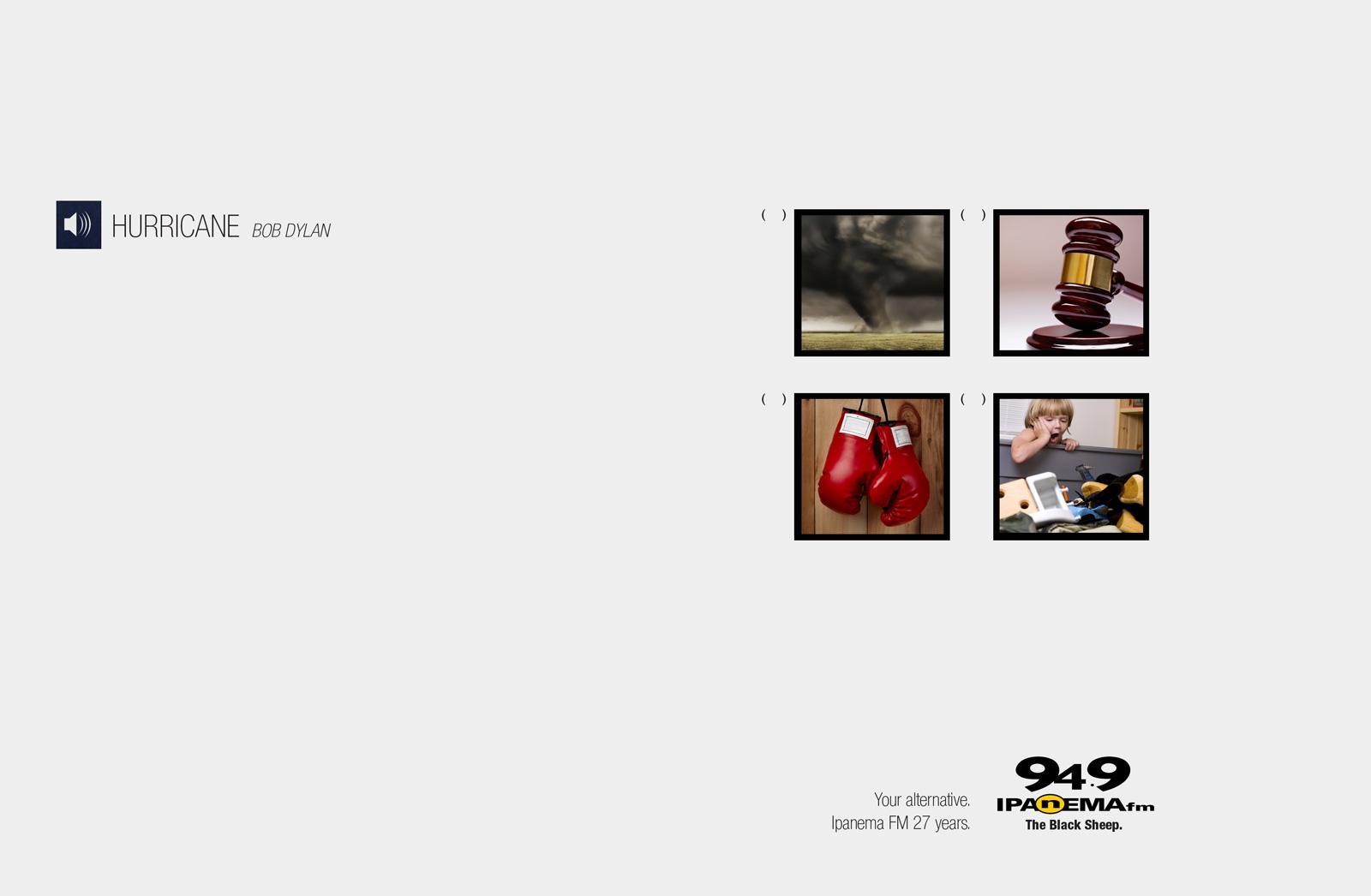 Ipanema FM Print Ad -  Your alternative, Hurricane