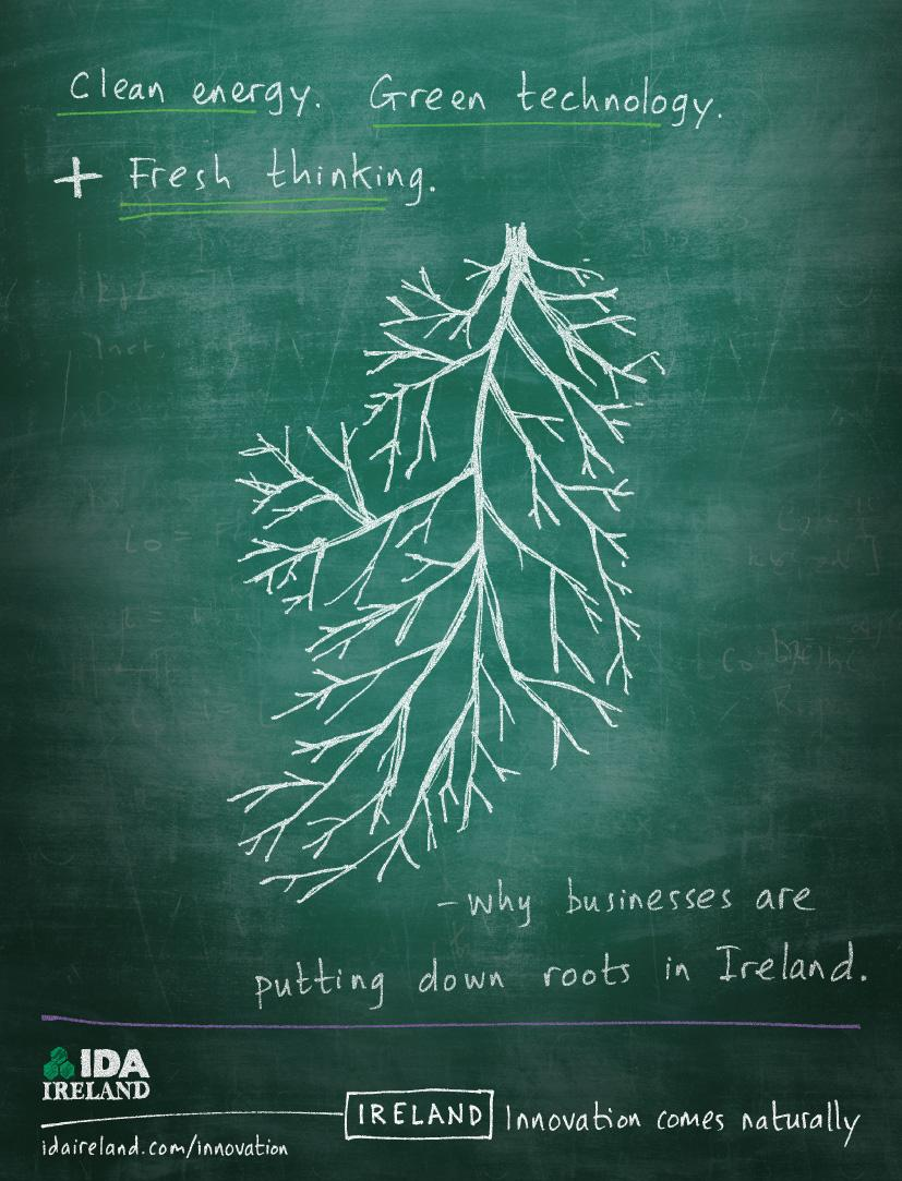 IDA Ireland Print Ad -  Clean energy