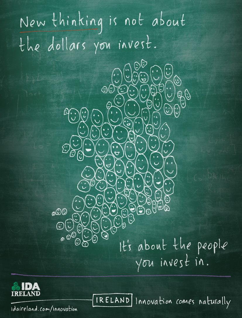 IDA Ireland Print Ad -  New thinking