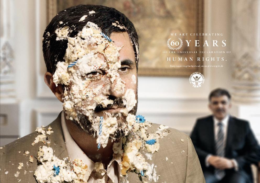 International Society for Human Rights Print Ad -  Ahmadinejad