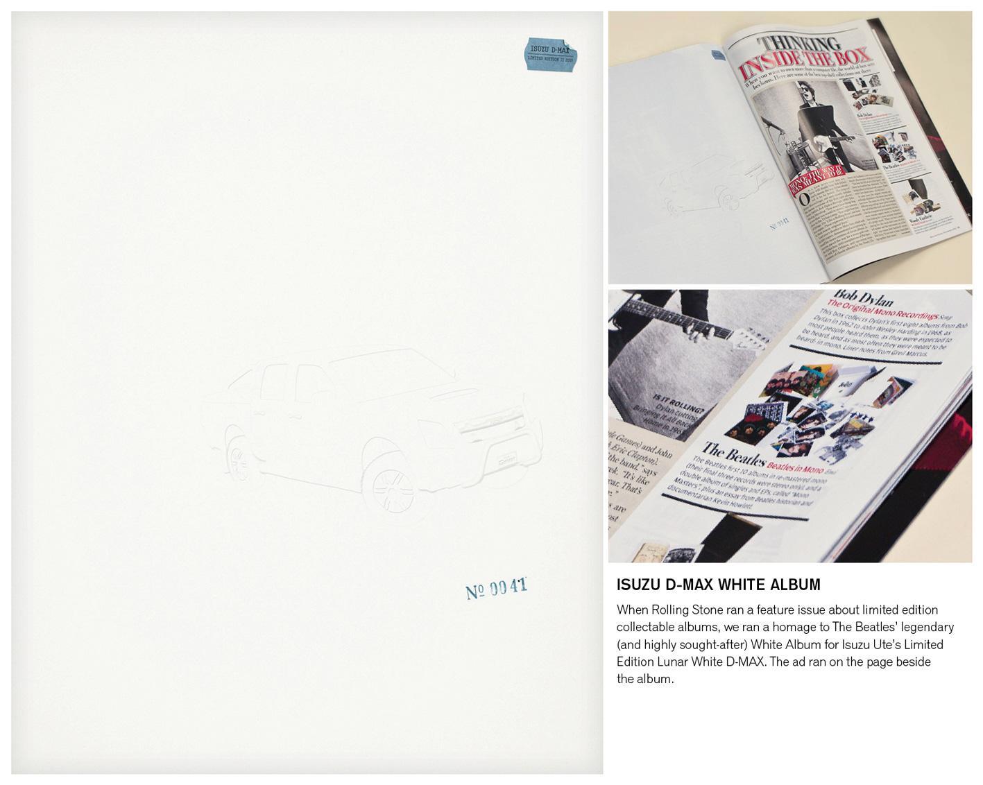 Isuzu Print Ad -  White Album in-situ