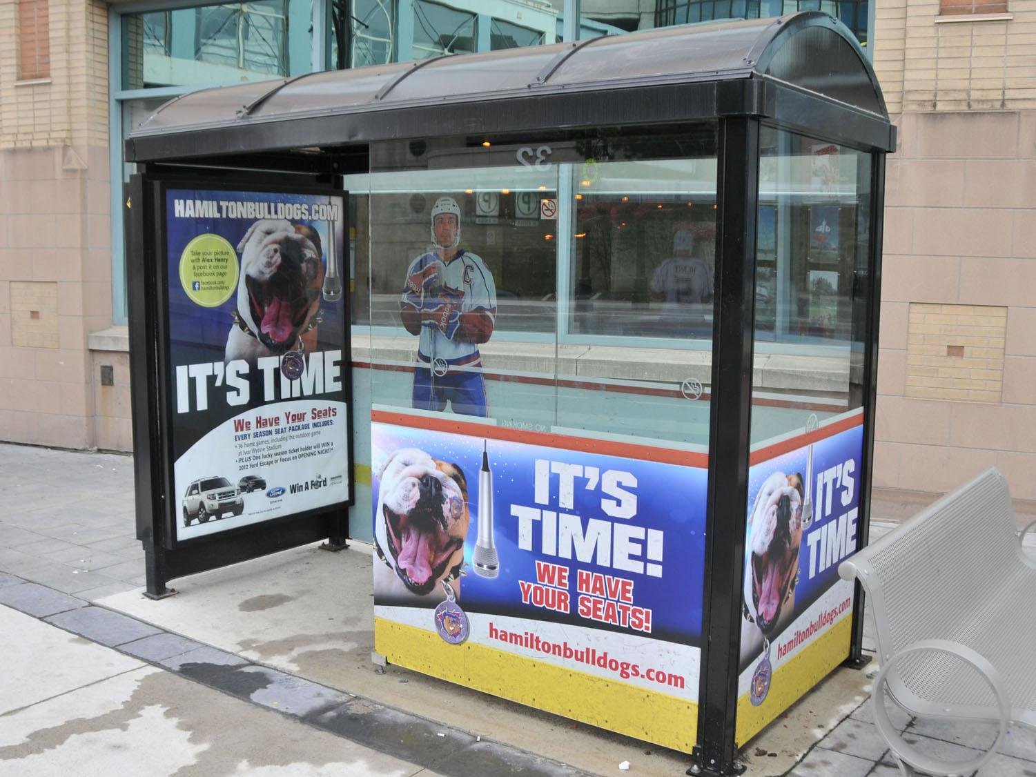 Hamilton Bulldogs Outdoor Ad -  It's time
