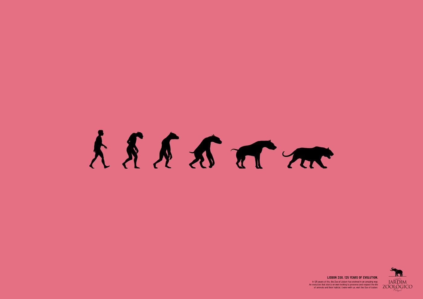 Lisbon Zoo Print Ad -  125 years of evolution, 1