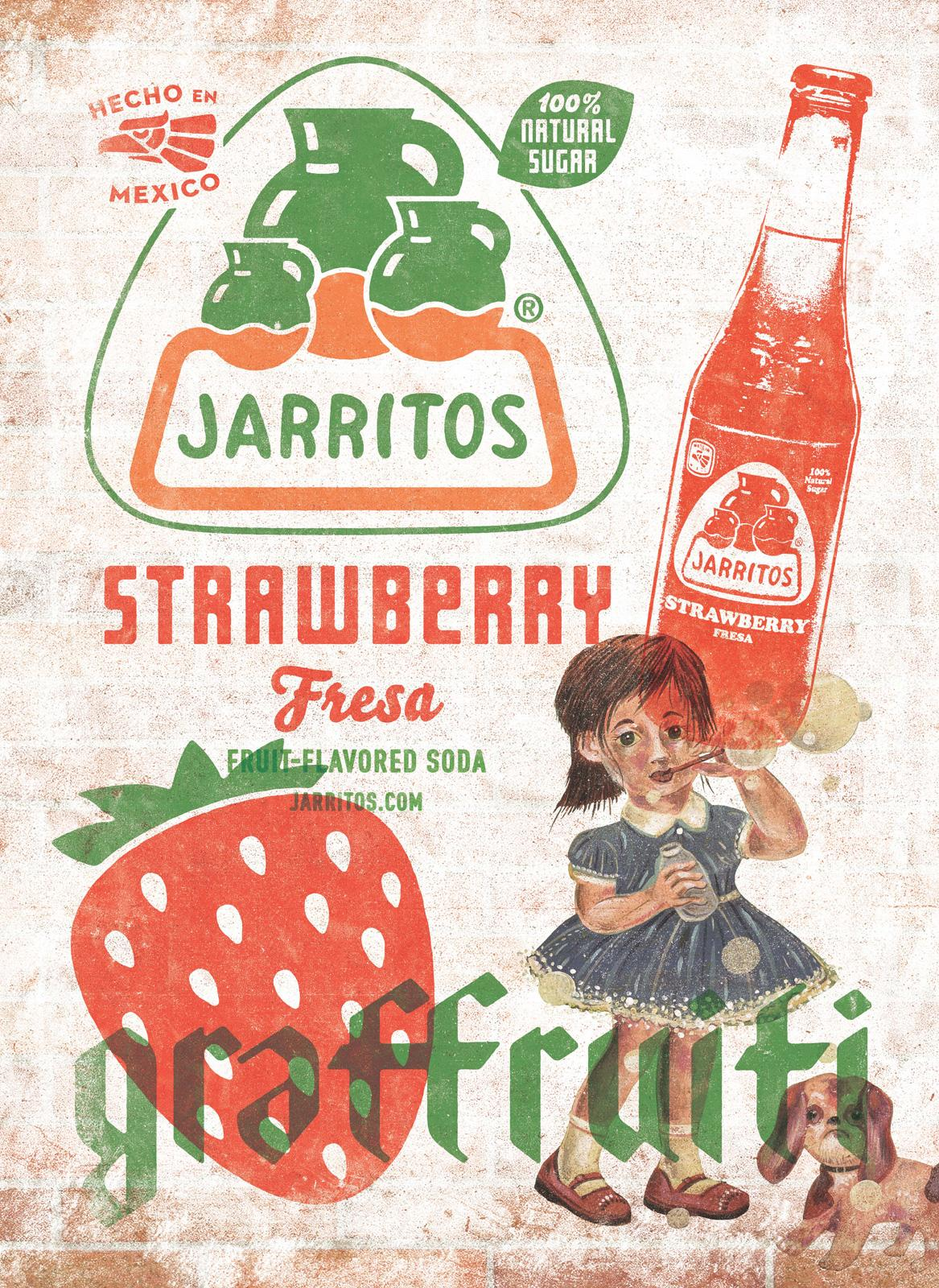 Jarritos Print Ad -  Strawberry