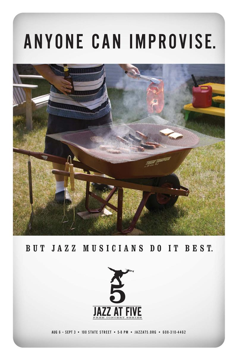Jazz At Five Print Ad -  Barbecue