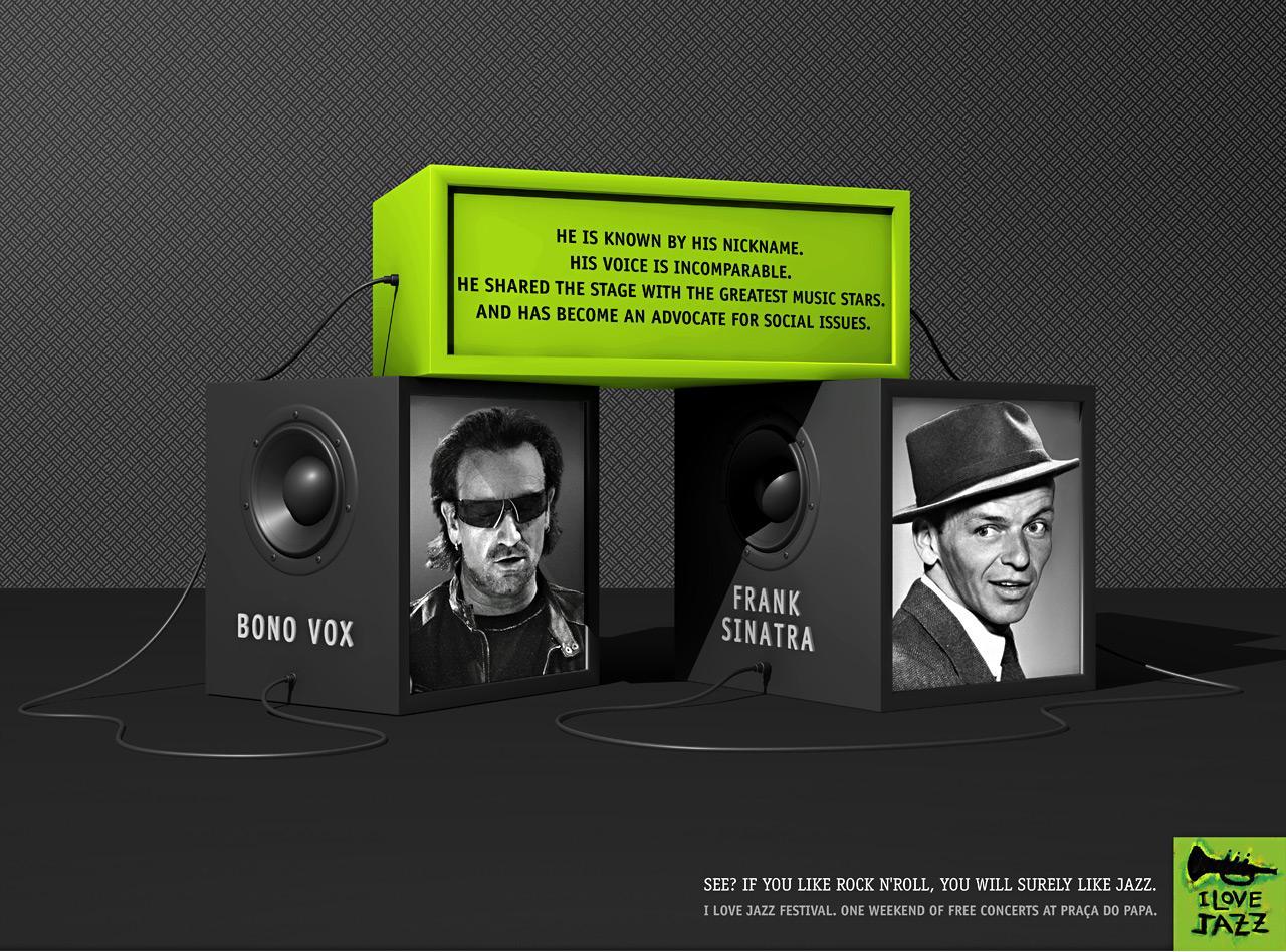 I Love Jazz Print Ad -  Bono