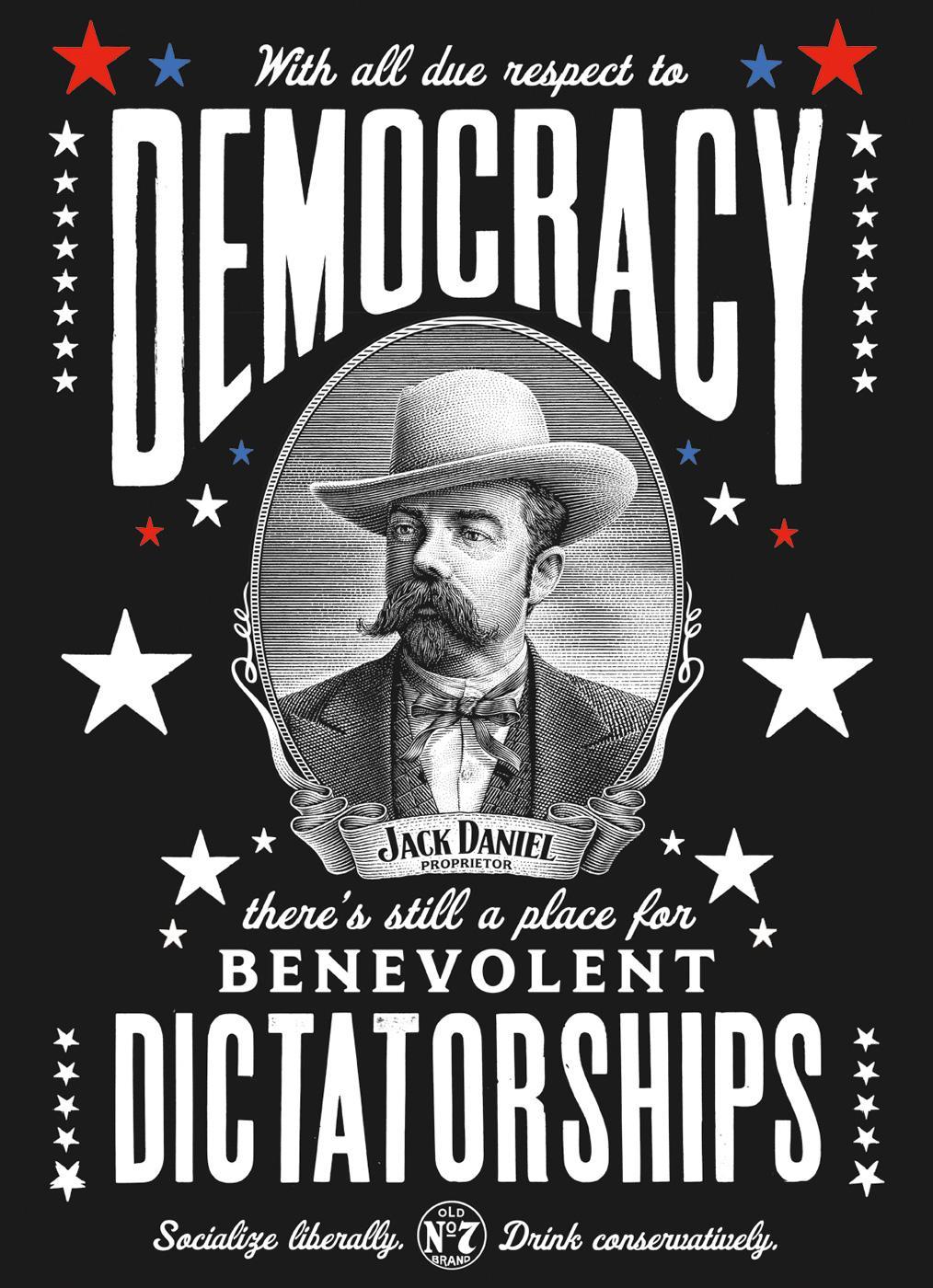 Jack Daniel's Print Ad -  Democracy