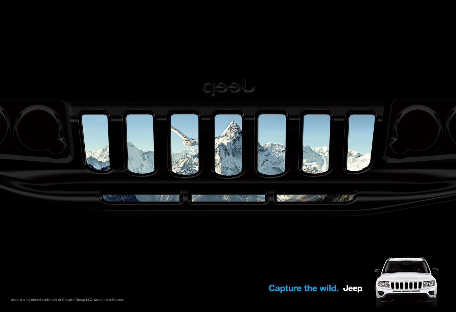 Jeep Print Ad -  Grill, Compass