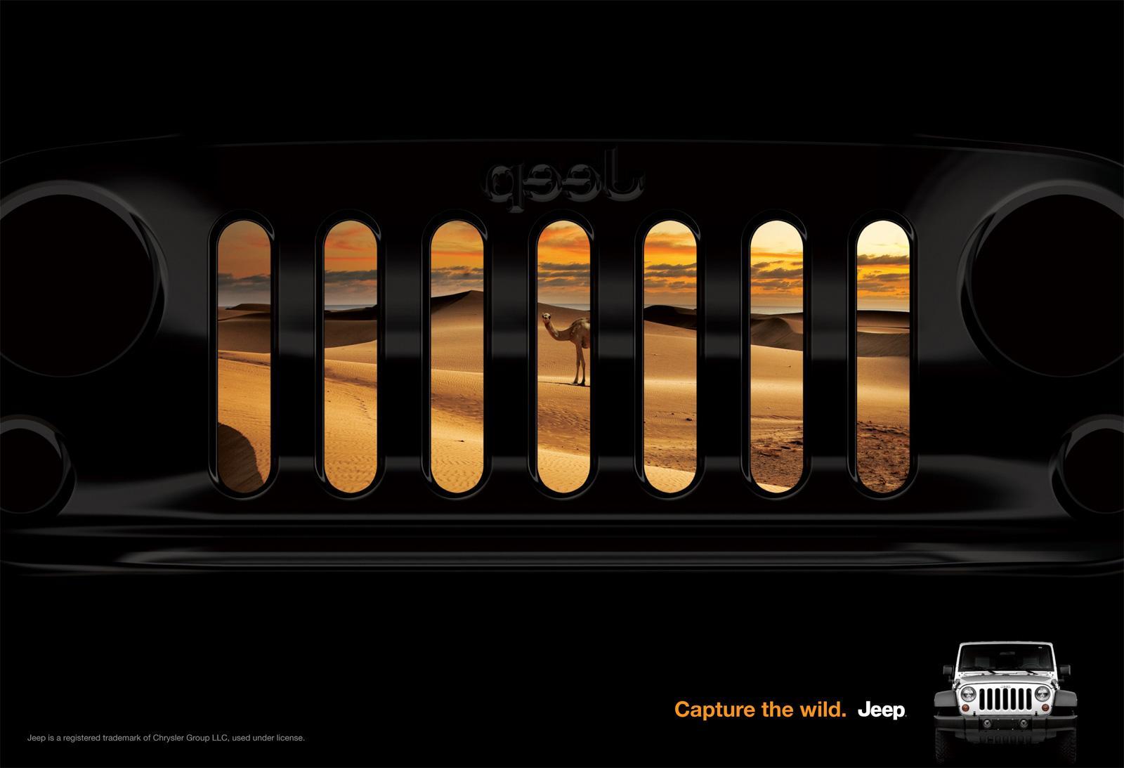 Jeep Print Ad -  Grill, Wrangler