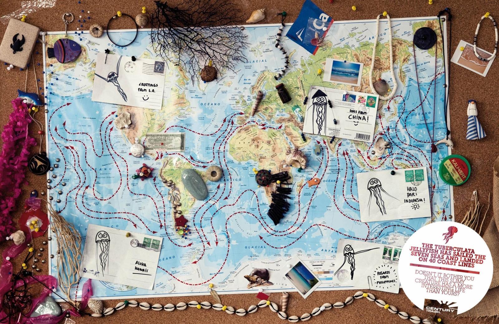 Century Travel Print Ad -  Tuberculata Jellyfish