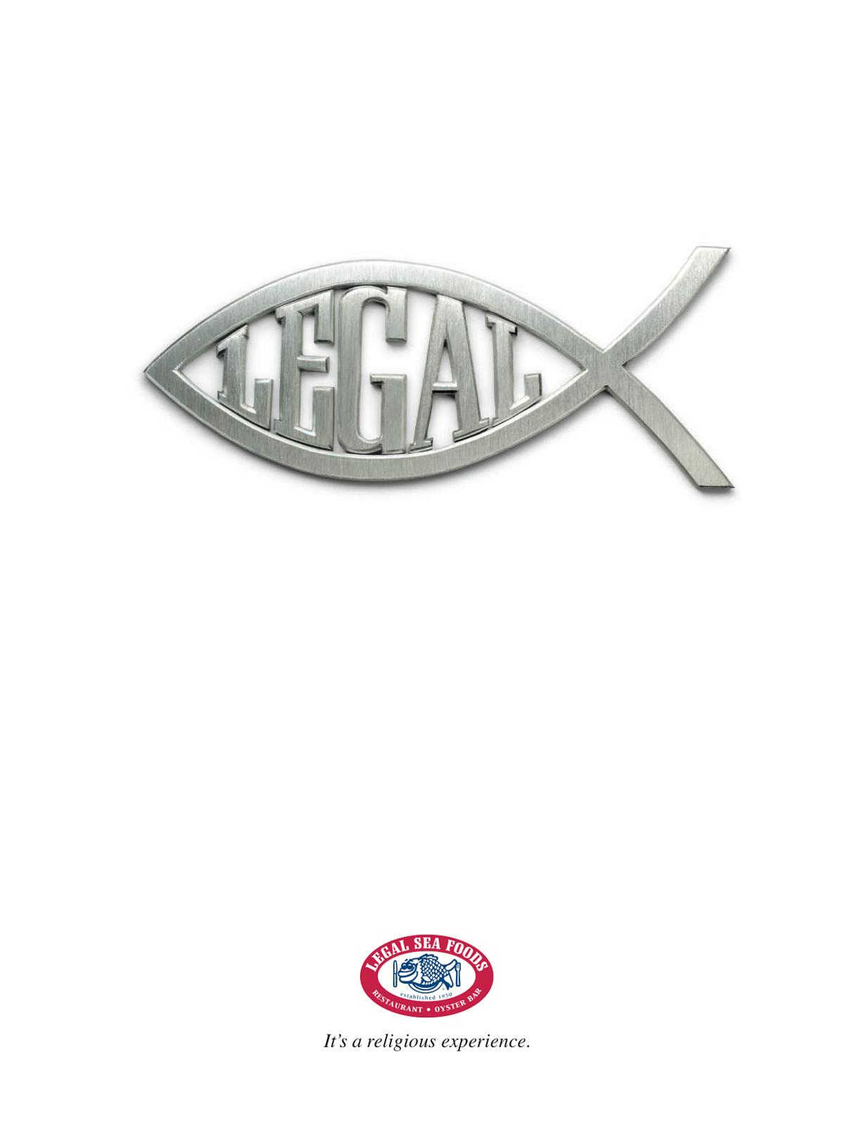 Legal Sea Foods Print Ad -  Jesus Fish