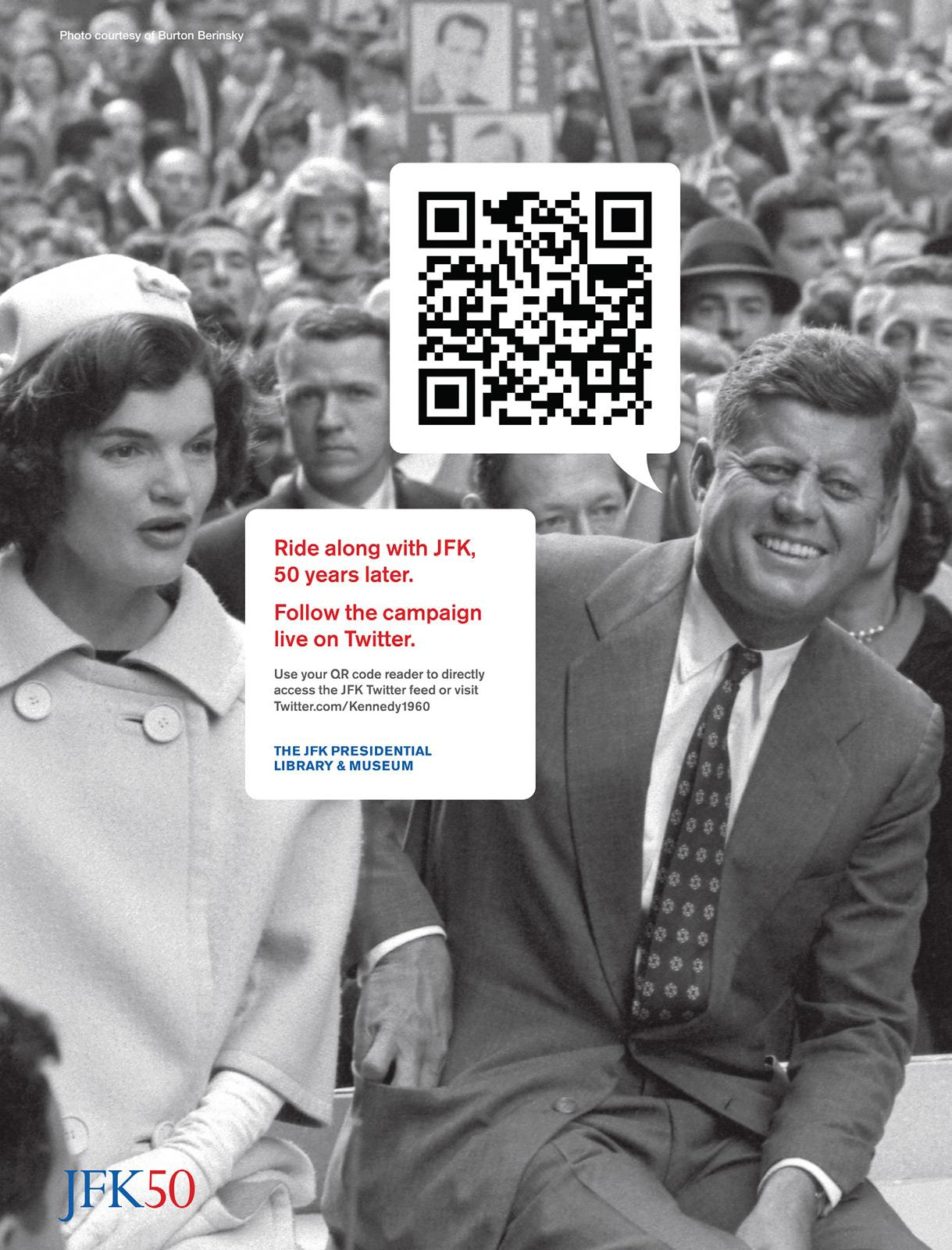 The JFK Presidential Library and Museum Print Ad -  Tweet, 1
