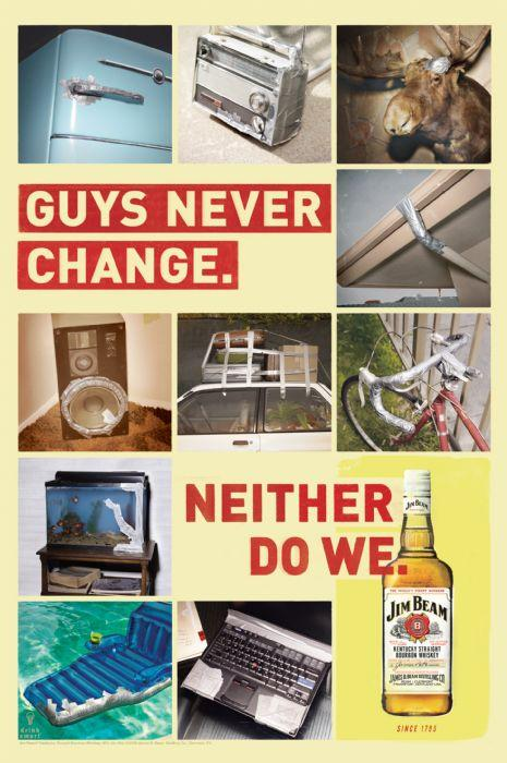 Jim Beam Print Ad -  Duct tape